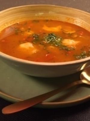 Thom ka yum soep